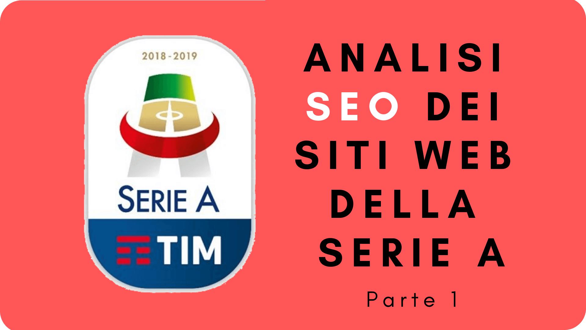 Analisi SEO dei siti web della Serie A