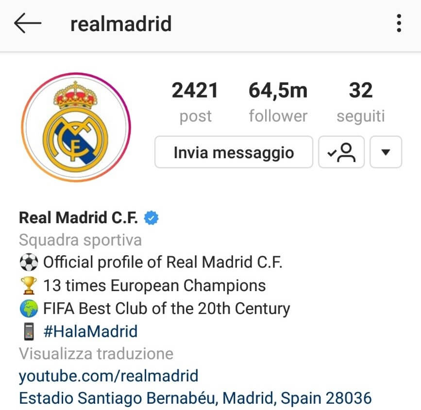 Instagram Real Madrid