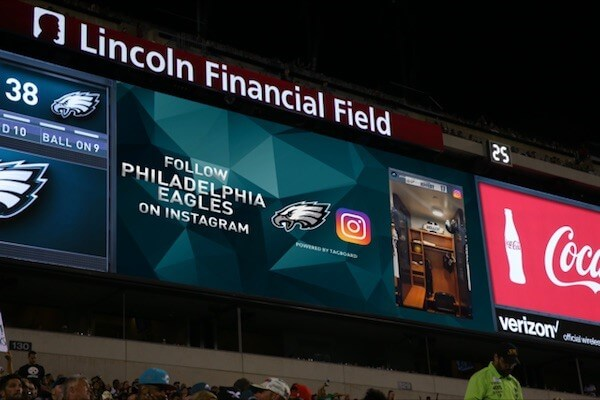 Philadelphia Eagles Instagram stories
