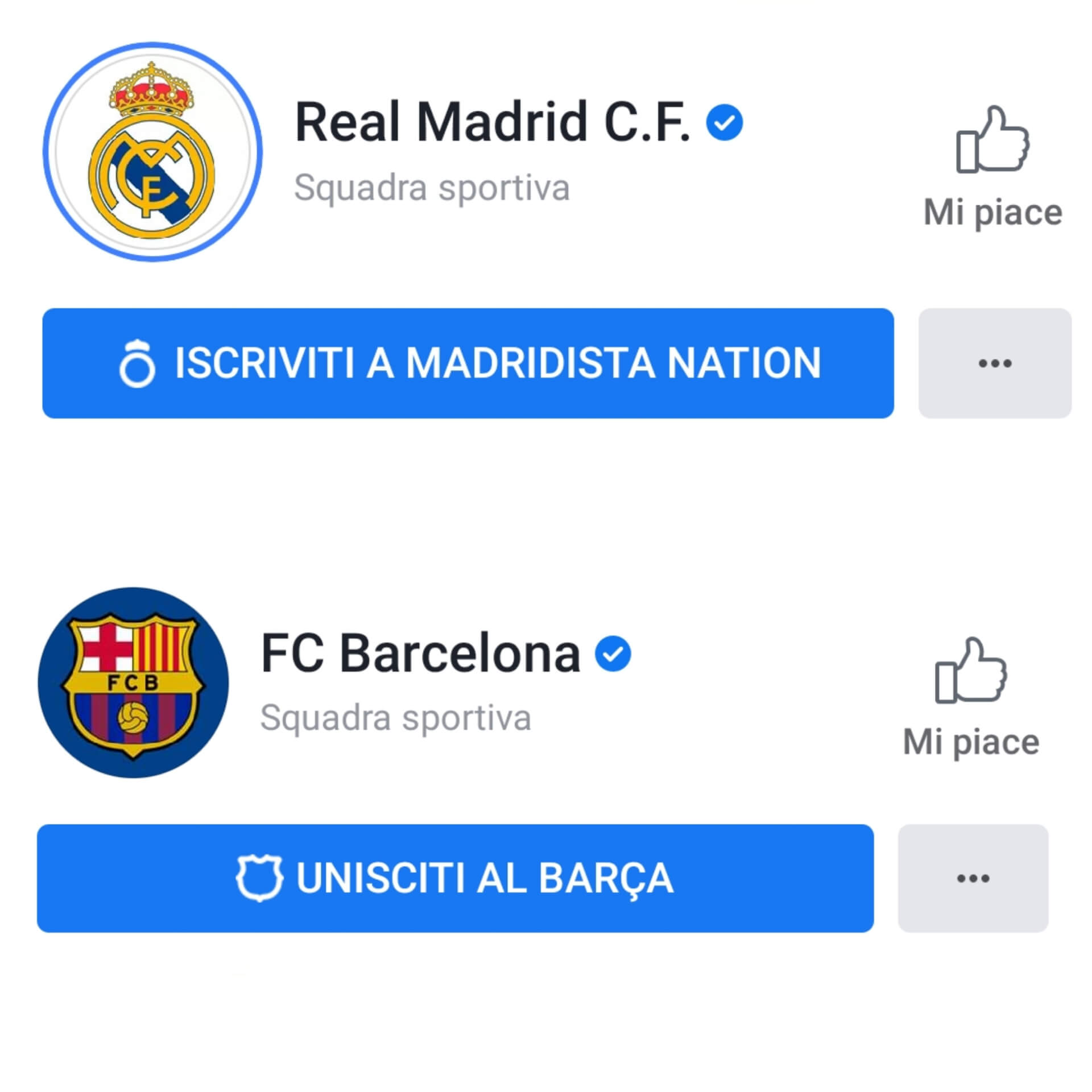 Real Madrid - Barcellona Facebook Subscription